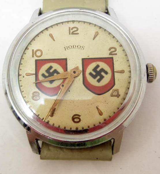 GERMAN NAZI WRIST WATCH - SWASTIKAS