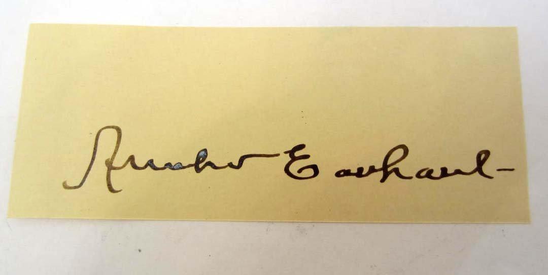 AMELIA EARHART SIGNATURE ON PAPER
