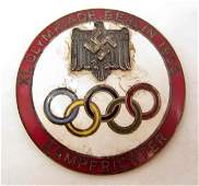 GERMAN NAZI BERLIN SUMMER OLYMPICS JUDGE BADGE