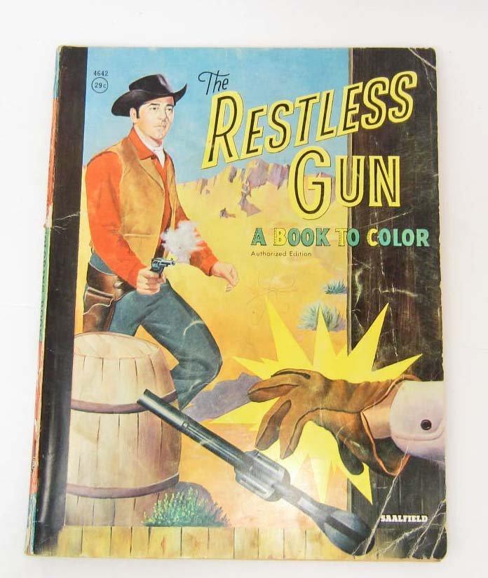 "VINTAGE ""THE RESTLESS GUN"" COLORING BOOK"