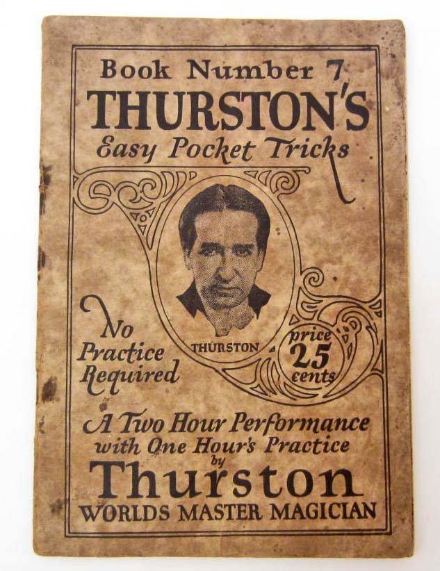 """1924 """"THURSTON'S EASY POCKET TRICKS"""" BOOKLET - WORLDS"""