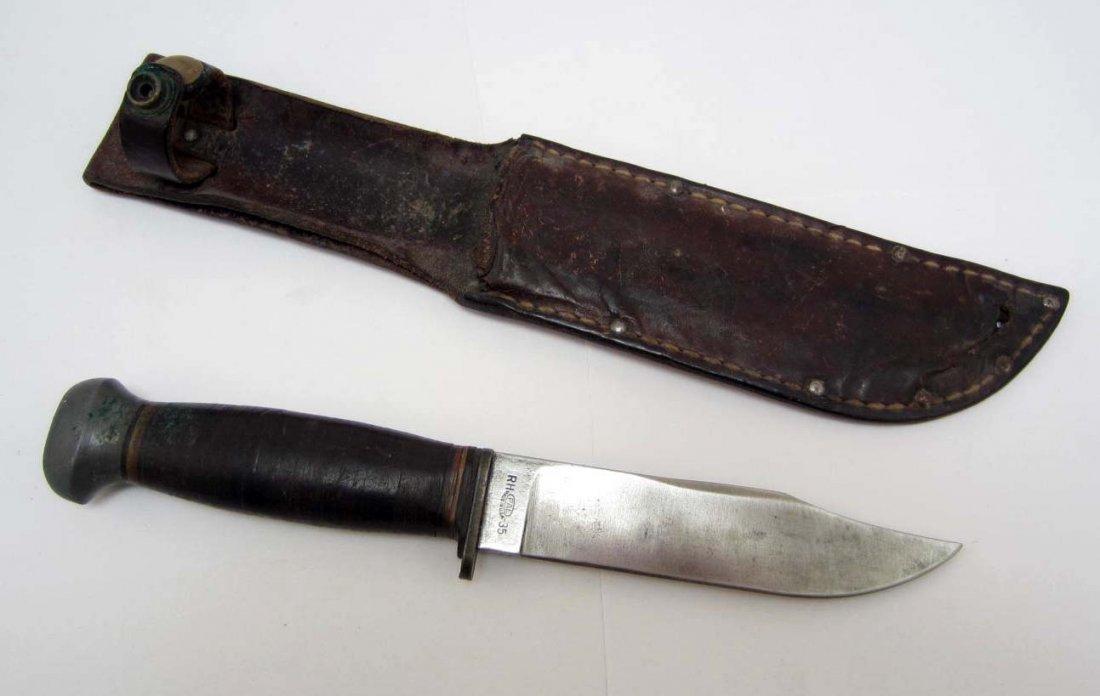 VINTAGE RH PAL - 35 U.S.N. NAVY MARK 1 HUNTING KNIFE W/