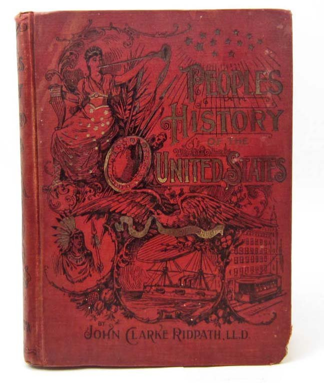 """1895 1ST ED. """"PEOPLE'S HISTORY OF THE UNITED STATES"""""""