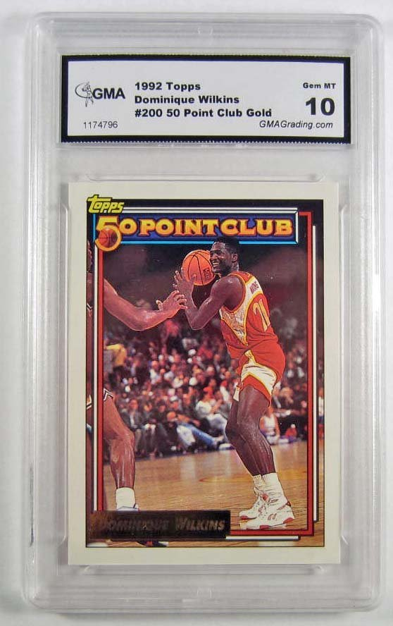 1992 TOPPS #200 DOMINIQUE WILKINS BASKETBALL CARD - GMA