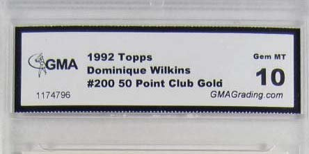 1992 TOPPS #200 DOMINIQUE WILKINS BASKETBALL CARD - GMA - 3