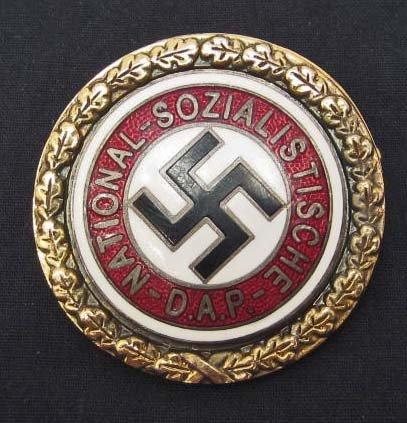 GERMAN NAZI GOLDEN NSDAP PARTY BADGE