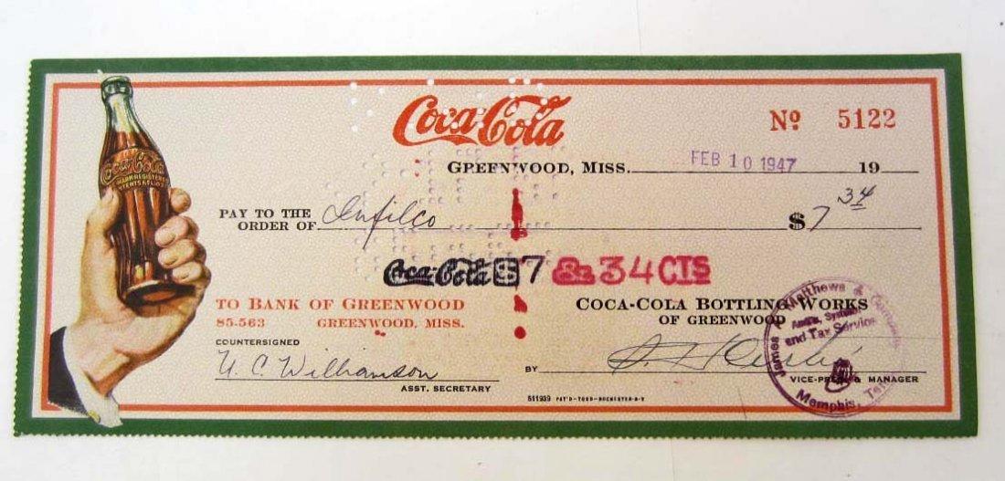 1947 COCA-COLA COMPANY CHECK