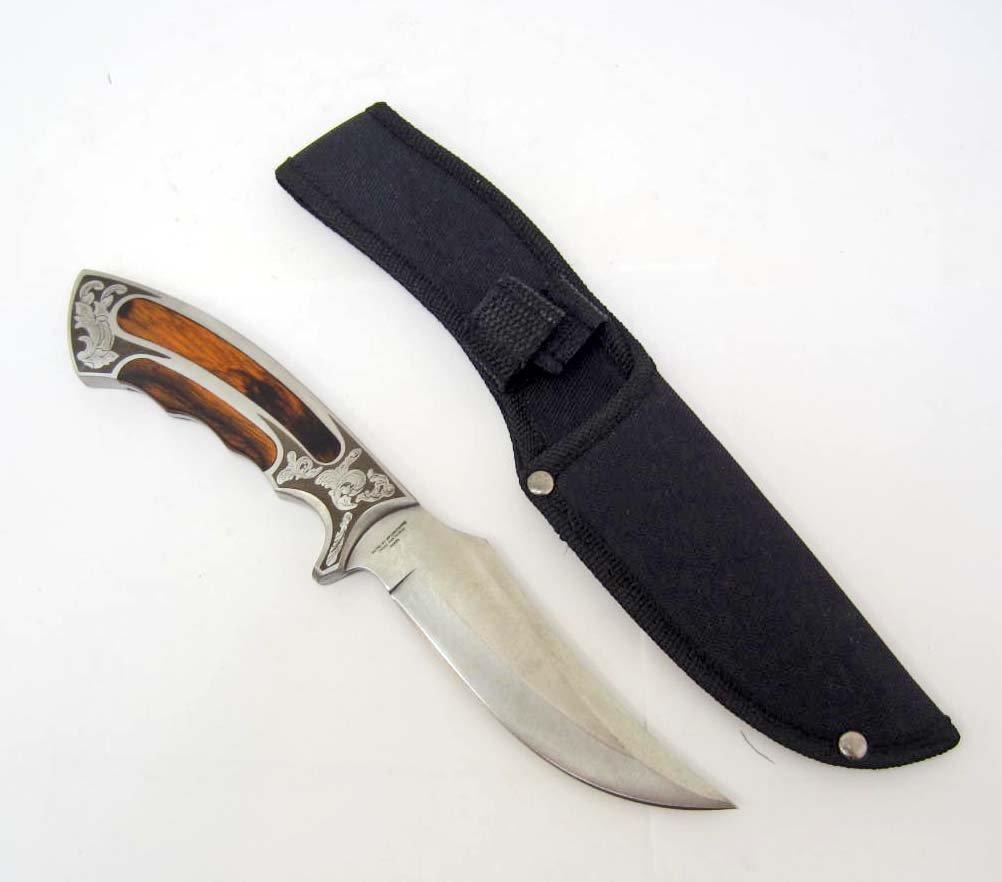 BOWIE KNIFE W/ EXECUTIVE WOOD HANDLE