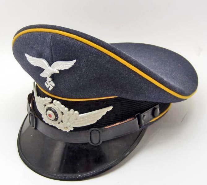 GERMAN NAZI LUFTWAFFE NCO FLIGHT VISOR CAP