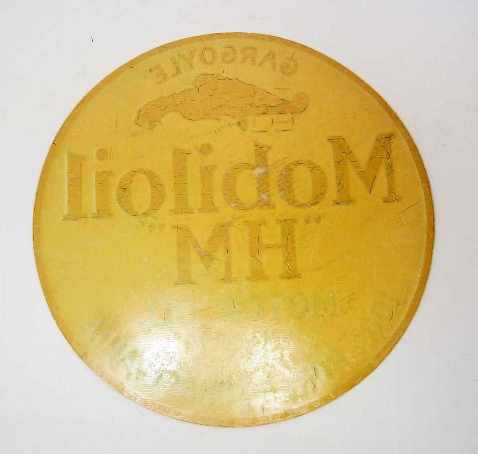 PRE 1920 GARGOYLE MOBILOIL MH MOTOR OIL  ADVERTISING