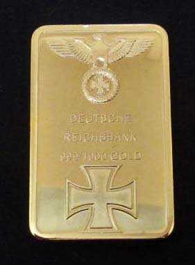 German Nazi Deutsche Reichsbank 999 1000 Gold Bar 24k
