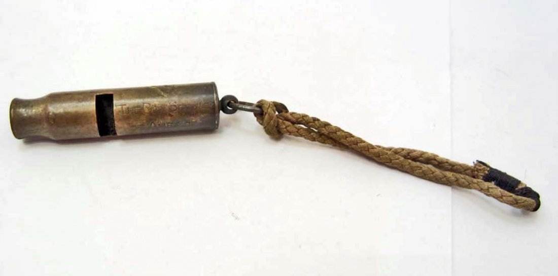 VINTAGE BOY SCOUTS OF AMERICA BRASS WHISTLE W/ BE