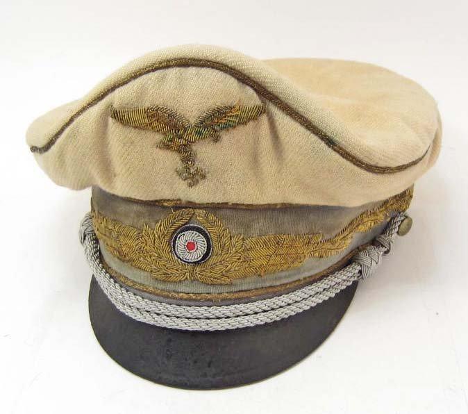 GERMAN NAZI HERMAN GOERING'S PERSONAL VISOR CAP