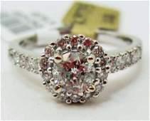 14K WHITE GOLD LADIES DIAMOND UNITY RING - SIZE 7