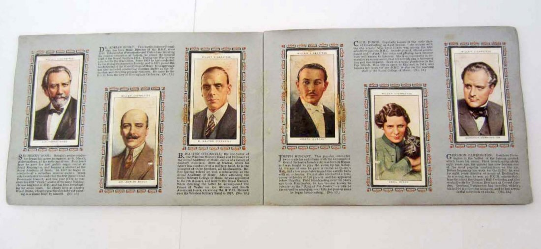 1934 WILLS CIGARETTE TOBACCO CARDS - RADIO BOOKLET