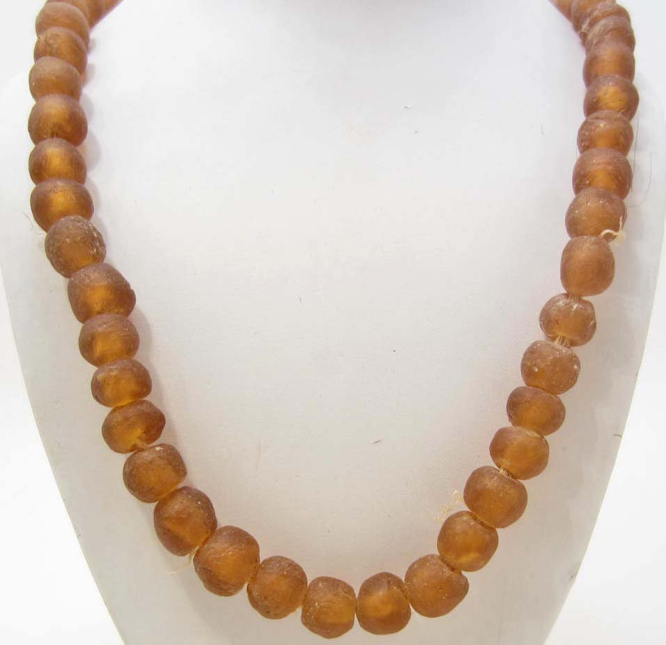 AFRICAN SAND CAST TRADE BEAD STRAND / NECKLACE