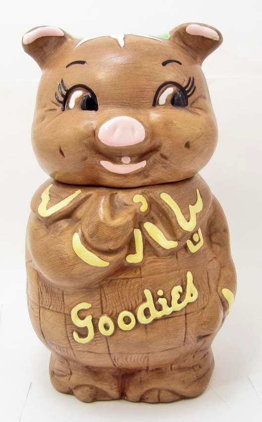 COOKIE JAR - GOODIES PIG - DE FOREST OF CALIFORNIA