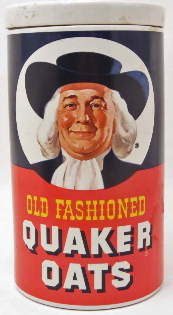 COOKIE JAR - OLD FASHIONED QUAKER OATS - REGAL CHINA