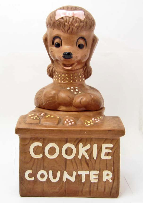 COOKIE JAR - COOKIE COUNTER POODLE - TWIN WINTON