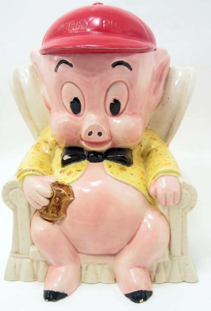 COOKIE JAR - VINTAGE PORKY PIG - DUNCAN WARNER BROS