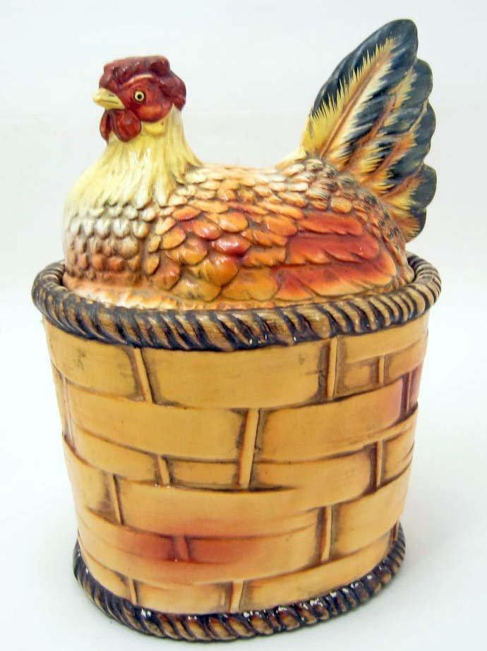 COOKIE JAR - CHICKEN ON BASKET - LEFTON'S JAPAN