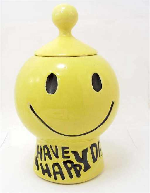 Mccoy Cookie Jar Values Inspiration COOKIE JAR SMILEY FACE HAVE A HAPPY DAY MCCOY USA