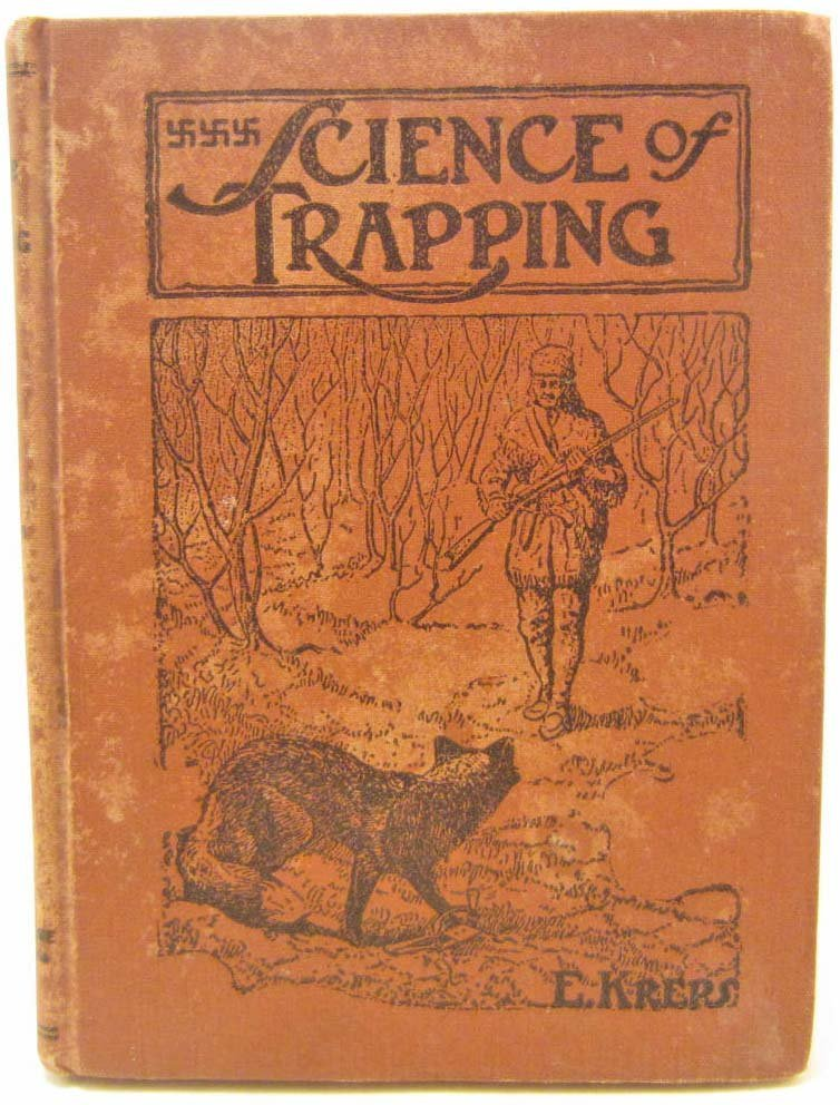 """1944 """"SCIENCE OF TRAPPING"""" HARDCOVER BOOK W/ SWASTIKAS"""