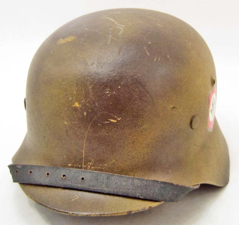 GERMAN NAZI WAFFEN SS CAMOUFLAGE DOUBLE DECAL HELMET