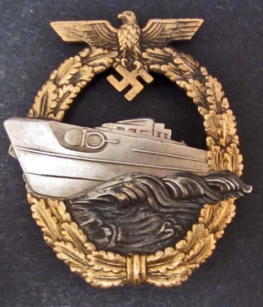 GERMAN NAZI NAVAL 2ND MODEL E BOAT BADGE