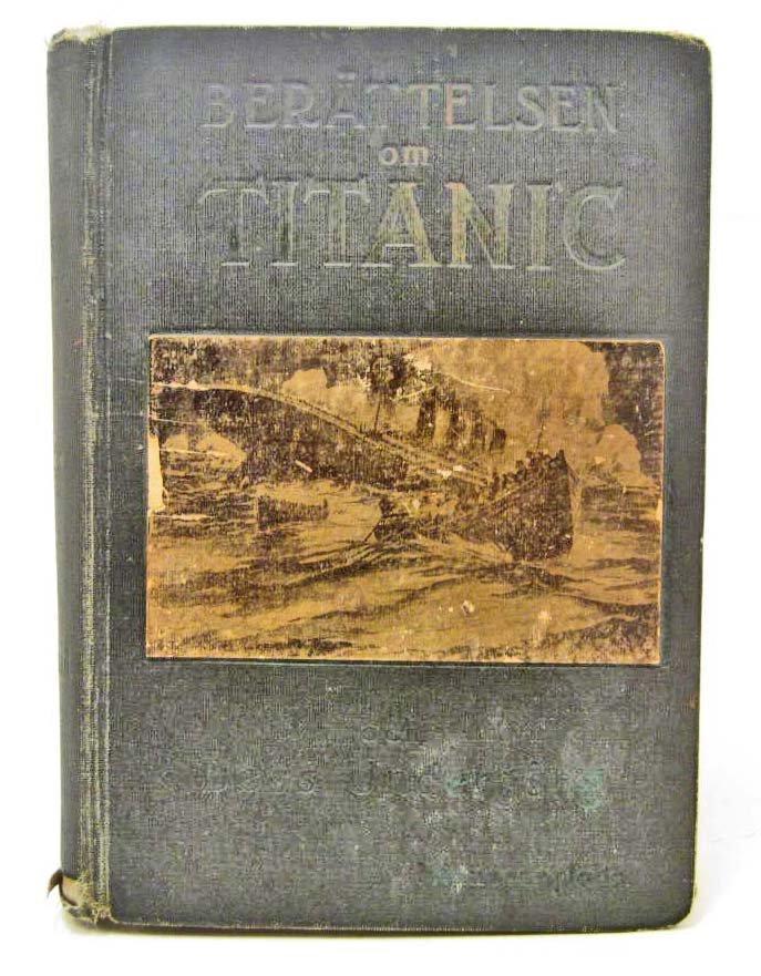 """1912 """"BERATTELSEN OM TITANIC"""" HARDCOVER BOOK"""