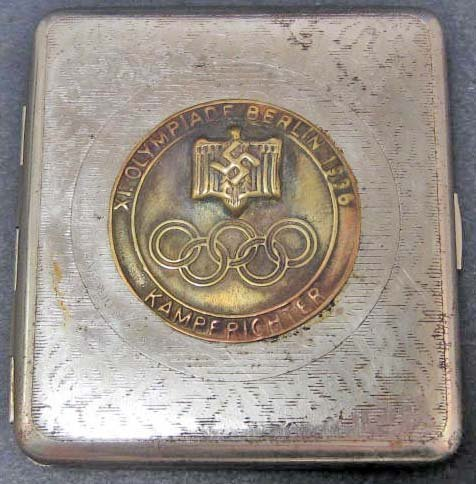 GERMAN NAZI OLYMPIC SPORTS CIGARETTE CASE