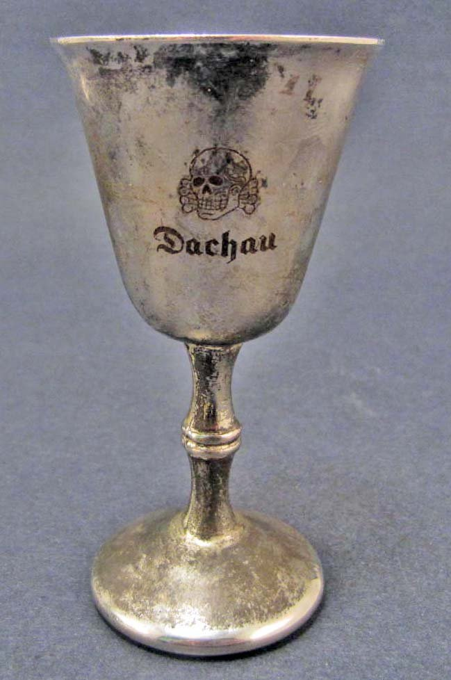 GERMAN NAZI VODKA CUP FROM DACHAU CONCENTRATION CAMP
