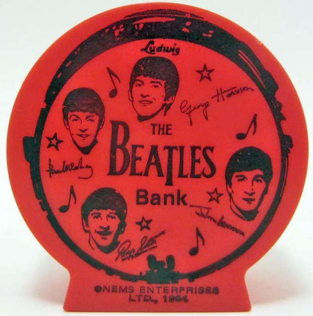 1964 THE BEATLES PLASTIC BANK - NEMS ENTERPRISES LTD