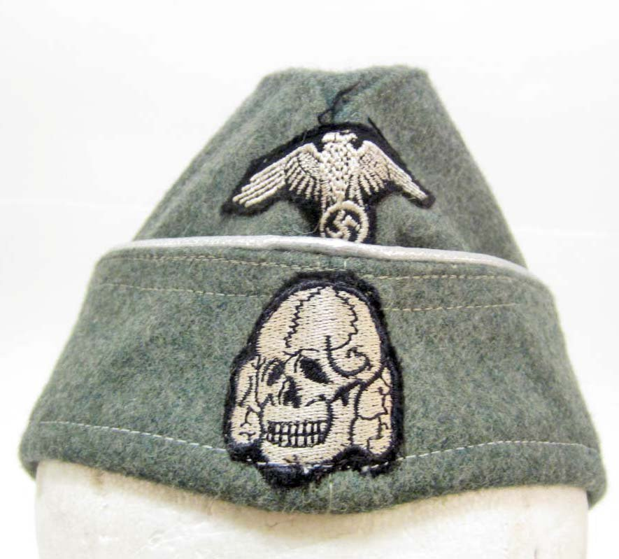 GERMAN NAZI WAFFEN SS OFFICERS OVERSEAS SIDE CAP