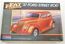 VINTAGE MONOGRAM FAT FENDERED 37 FORD STREET ROD MODEL