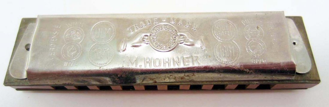 VINTAGE M HOHNER'S OLD STANDBY HARMONICA IN ORIG. BOX - 3