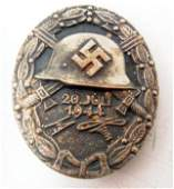 GERMAN NAZI SILVER JULY 20TH 1944 WOUND BADGE