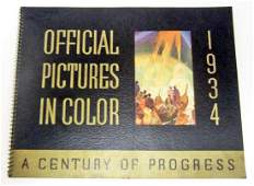 1934 A CENTURY OF PROGRESS WORLDS FAIR PICTURE BOOK