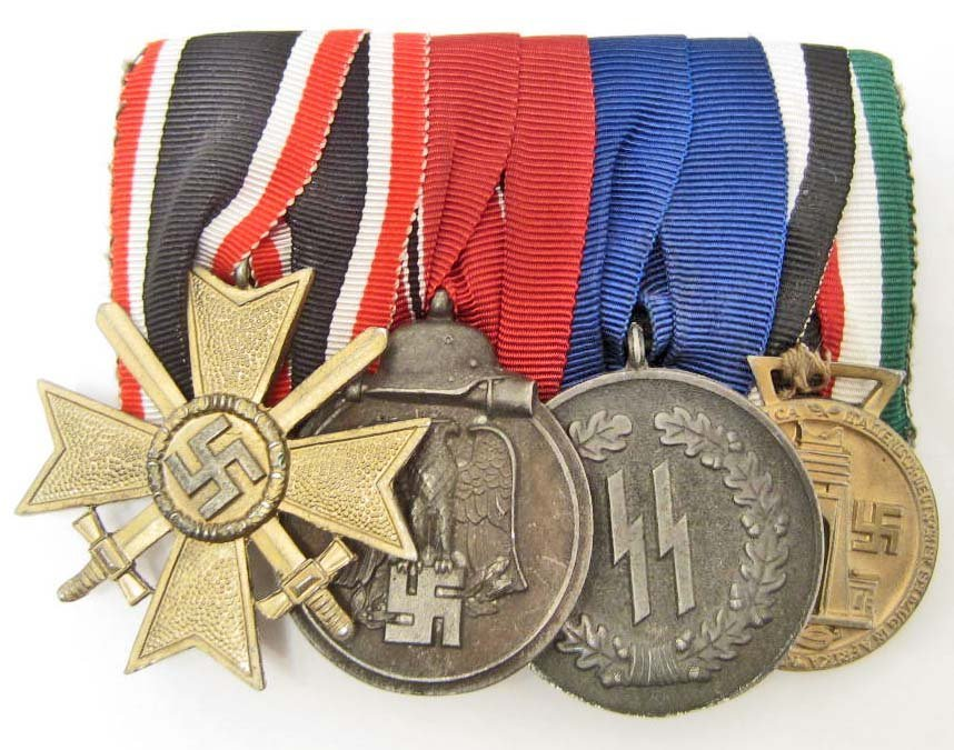 GERMAN NAZI WAFFEN SS PARADE MOUNT MEDAL BAR
