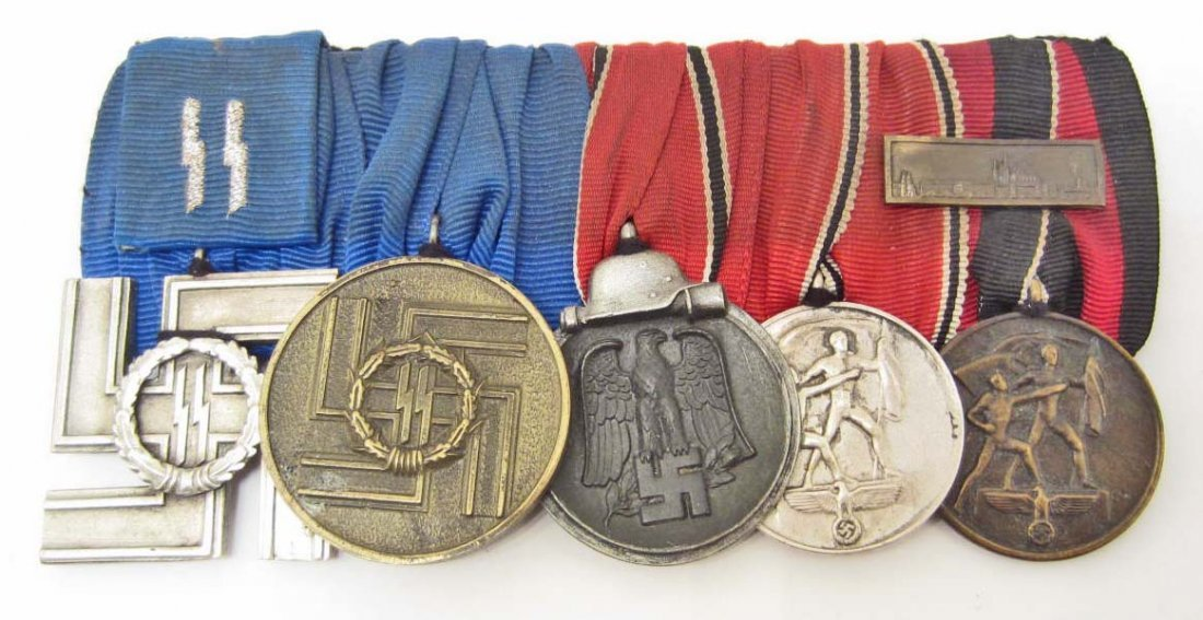 GERMAN NAZI SS 18 & 8 YEAR LONG SERVICE MEDAL BAR