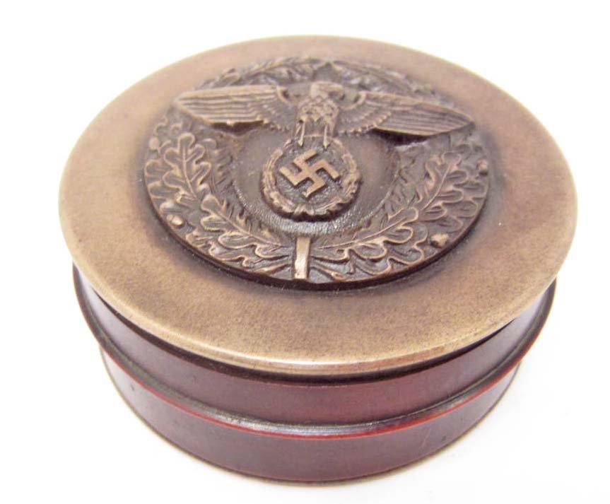 GERMAN NAZI METAL SNUFF BOX
