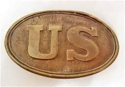 CIVIL WAR UNION ARMY 'US' BELT BUCKLE REPLICA