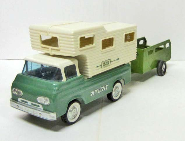 C. 1960'S NYLINT FORD ECONOLINE TRUCK W/ CAMPER TOP