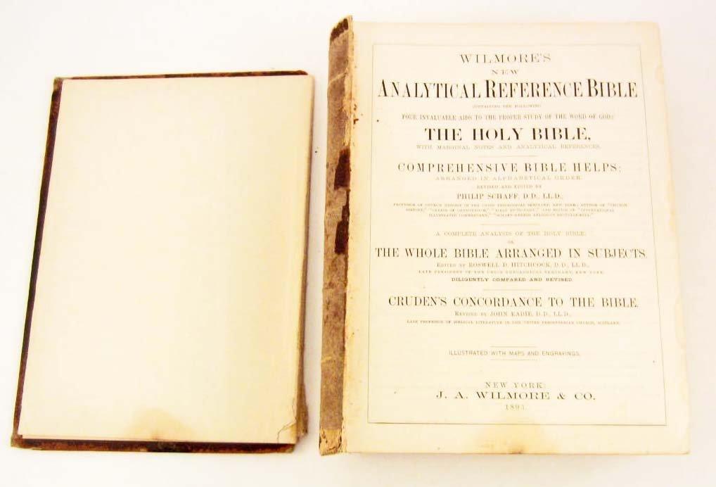 """1893 CIVIL WAR ERA """"HOLY BIBLE"""" LARGE HARDCOVER - 2"""