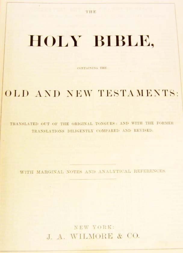 """1893 CIVIL WAR ERA """"HOLY BIBLE"""" LARGE HARDCOVER - 3"""