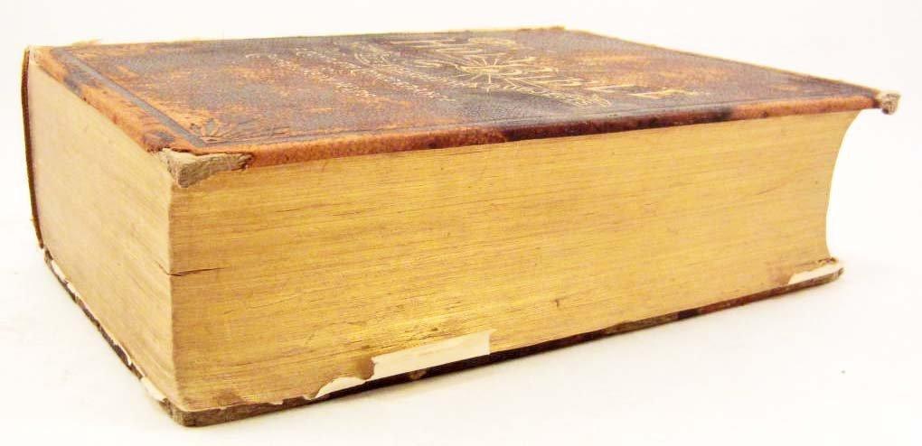 """1893 CIVIL WAR ERA """"HOLY BIBLE"""" LARGE HARDCOVER - 4"""