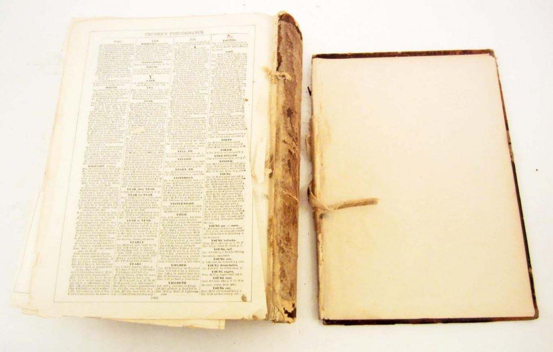 """1893 CIVIL WAR ERA """"HOLY BIBLE"""" LARGE HARDCOVER - 5"""
