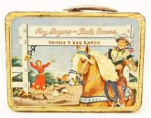 C. 1950S ROY ROGERS & DALE EVANS METAL LUNCH BOX