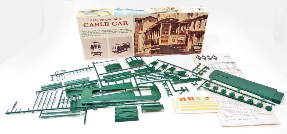 VINTAGE 1967 HAWK SAN FRANCISCO CABLE CAR MODEL KIT
