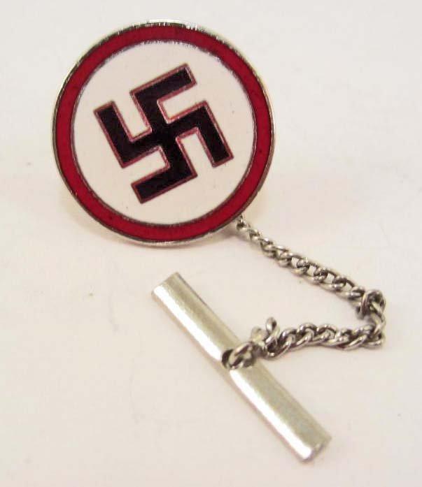 GERMAN NAZI ENAMELED SWASTIKA TIE TACK